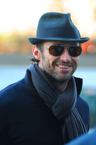 how a fedora looks on hugh jackman