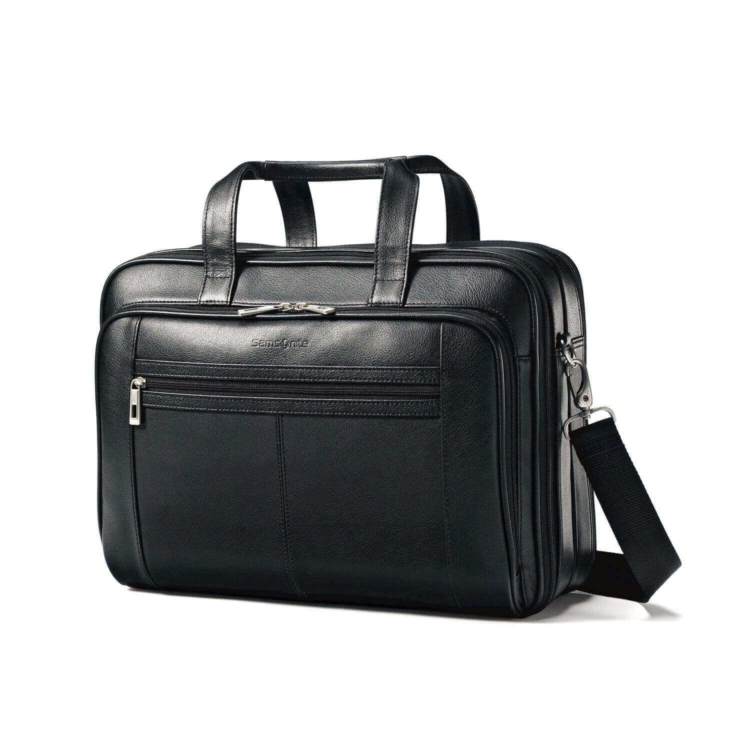 Samsonite Leather Expandable Briefcase - best leather briefcases for men