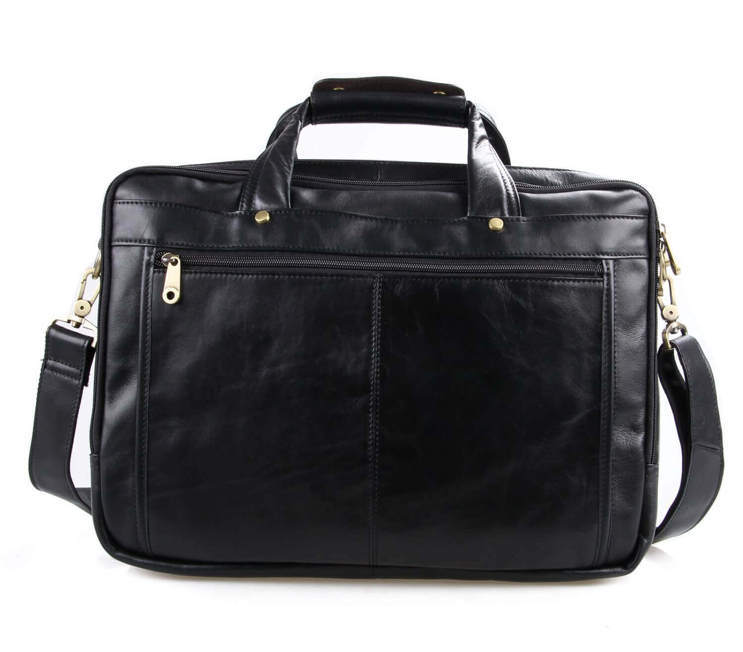 Texbo Leather Briefcase Shoulder Bag - best leather briefcases for men
